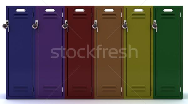 School gym locker Stock photo © kjpargeter