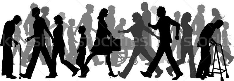 People walking Stock photo © kjpargeter