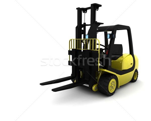 Yellow Fork Lift Truck Isolated on White Stock photo © kjpargeter