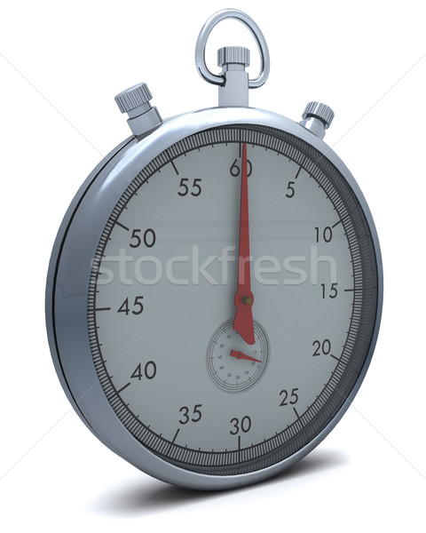 Traditional chrome stop watch Stock photo © kjpargeter