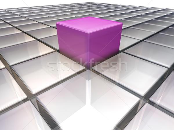 Foto d'archivio: No · descrizione · cubo · concetto · piazza · illustrazione