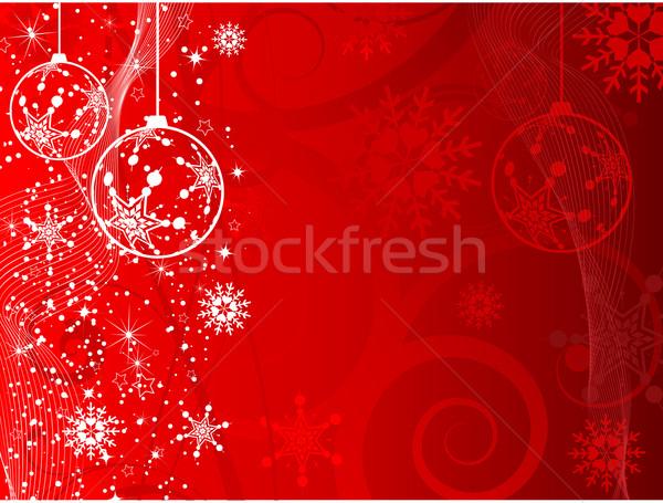 Karácsony dekoratív hó háttér jég tél Stock fotó © kjpargeter