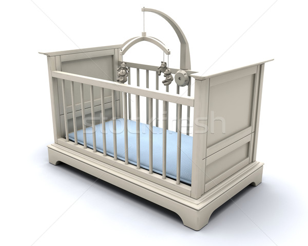 Cot for baby boy Stock photo © kjpargeter