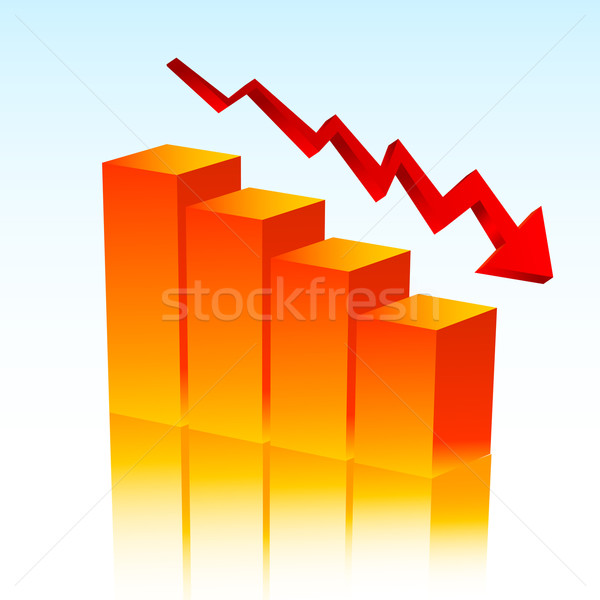 Falling profits Stock photo © kjpargeter