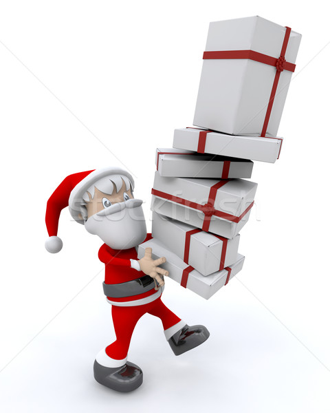 santa and gifts Stock photo © kjpargeter