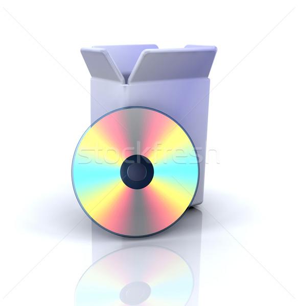 Software ícone 3D ícone do computador negócio projeto Foto stock © kjpargeter