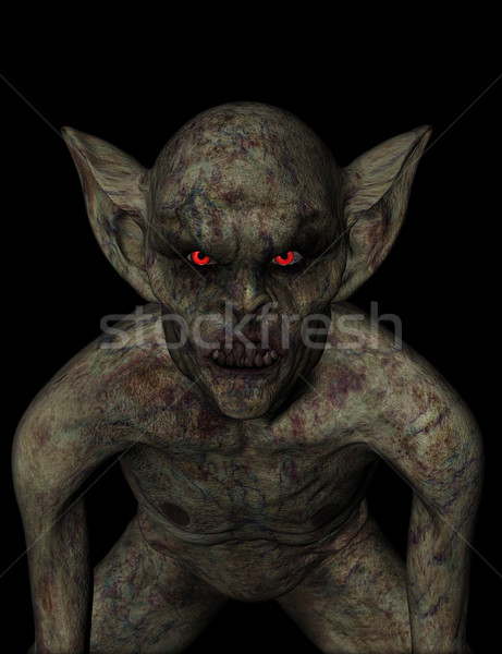 3D halloween demon rendering 3d scary morti Foto d'archivio © kjpargeter