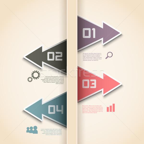 Modern infographics seçenekleri düzen dizayn arka plan Stok fotoğraf © kjpargeter