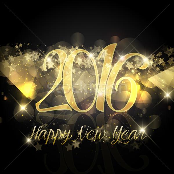Csillagos új év boldog új évet terv háttér csillag Stock fotó © kjpargeter