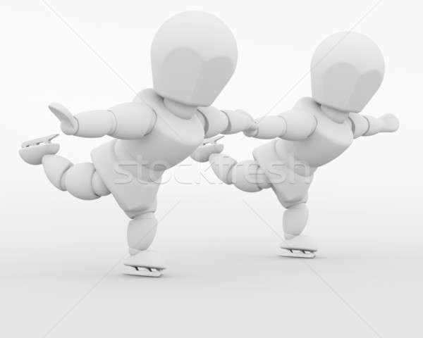 Stock photo: figure skaters