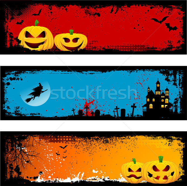 Grunge Halloween backgrounds Stock photo © kjpargeter