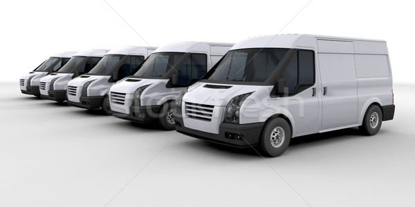 Fleet of delivery vans Stock photo © kjpargeter