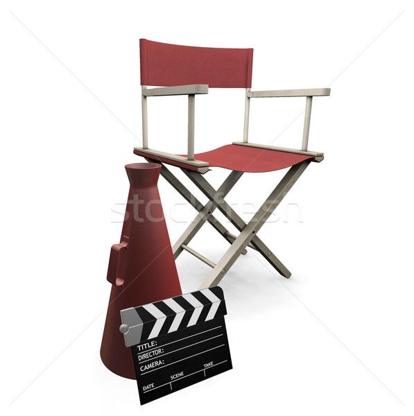 映画 3dのレンダリング 孤立した 白 背景 映画 ストックフォト © kjpargeter