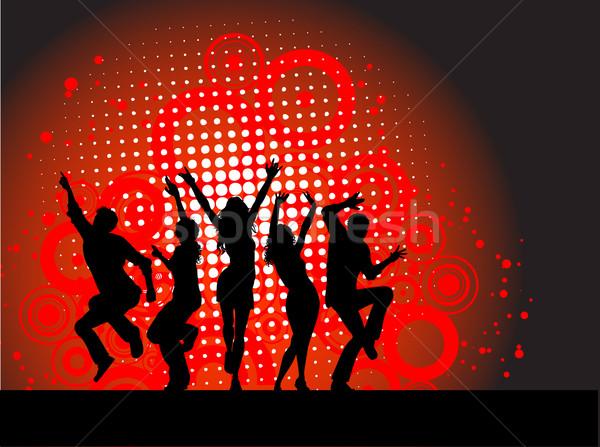 Сток-фото: вечеринка · люди · танцы · музыку · девушки