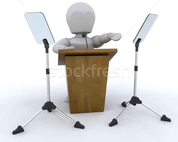 Hangszóró 3d render valaki beszél férfi csoport Stock fotó © kjpargeter