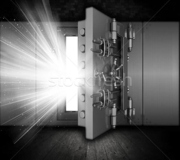 Grunge bank agykoponya illusztráció belső fény Stock fotó © kjpargeter