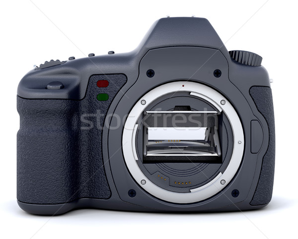 Stockfoto: 3D · digitale · camera · lens · geïsoleerd · achtergrond · digitale