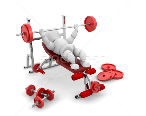 Lifting weights Stock photo © kjpargeter