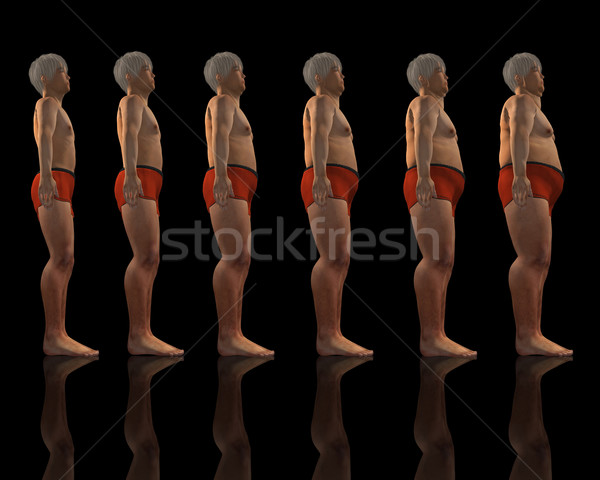 Slim to overweight male Stock photo © kjpargeter