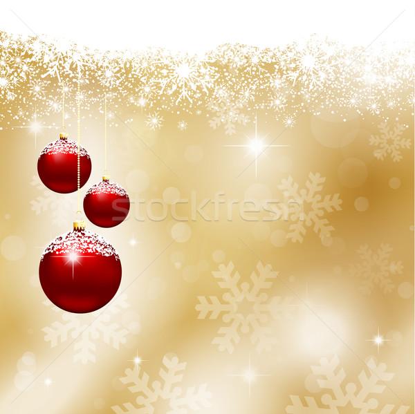 クリスマス 雪 星 冬 ボール 冷たい ストックフォト © kjpargeter