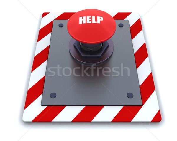 Knop 3d render symbool industriële schakelaar Stockfoto © kjpargeter