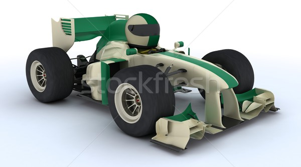 tortoise with racing car Stock photo © kjpargeter