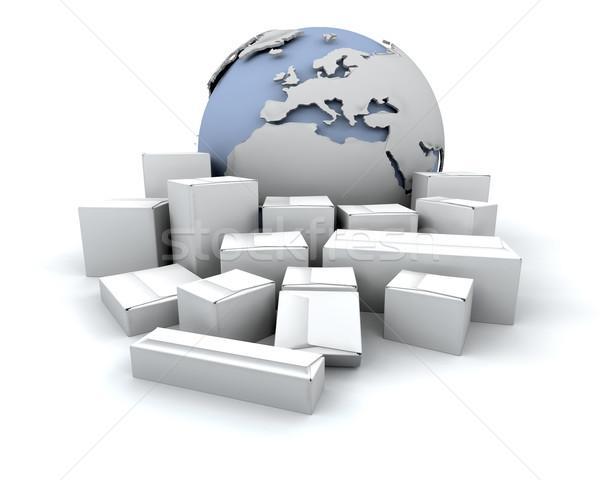 Foto d'archivio: Globale · consegna · immagine · mondo · mondo · mouse