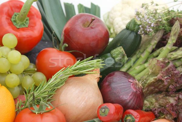 Fruto legumes exibir maçã verão laranja Foto stock © kjpargeter