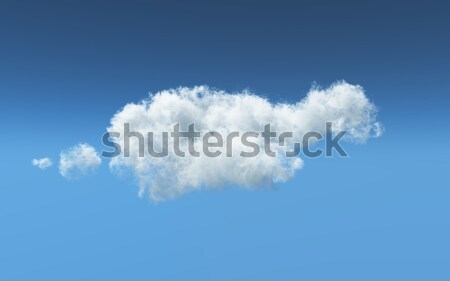 3D feathery white cloud Stock photo © kjpargeter