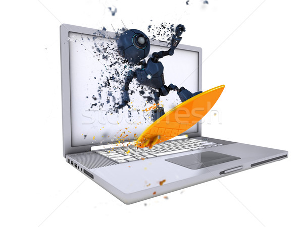 Surfing the internet concept Stock photo © kjpargeter