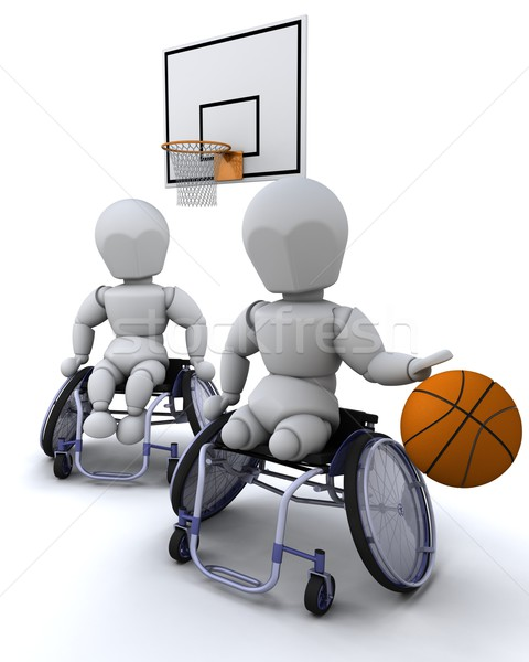 Stock photo: wheelchair basket ball