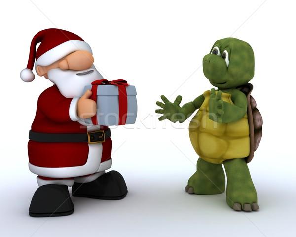 tortoise and Santa Claus Stock photo © kjpargeter