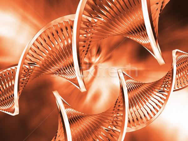 Dna abstract technologie geneeskunde wetenschap leven Stockfoto © kjpargeter