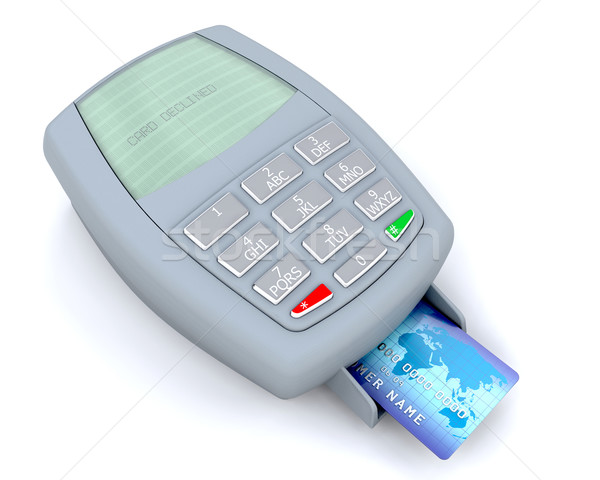 Credit card machine Stock photo © kjpargeter