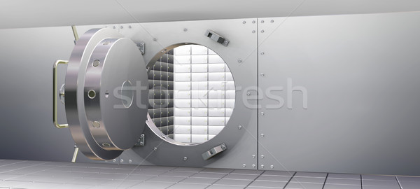 Bank Vault and Safety Deposit Boxes Stock photo © kjpargeter