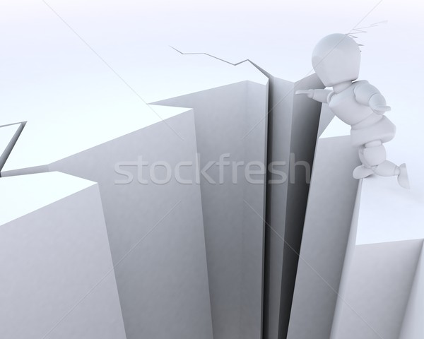 man on a cliff edge Stock photo © kjpargeter