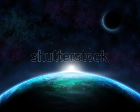 Space scene background Stock photo © kjpargeter