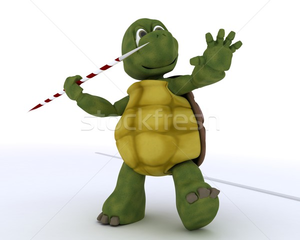 tortoise competing in javelin Stock photo © kjpargeter