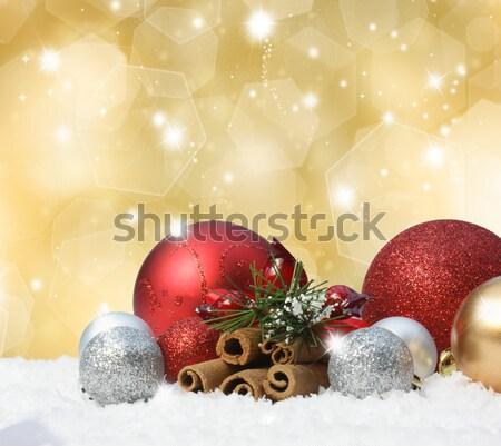 Snow globe on a Christmas background Stock photo © kjpargeter