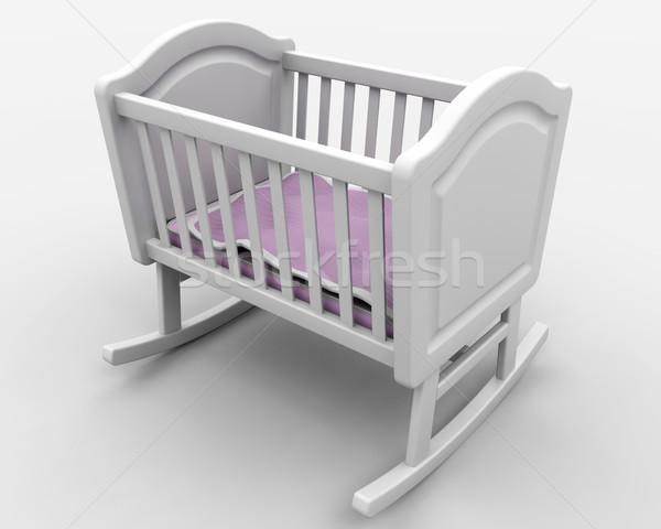 Baby's crib Stock photo © kjpargeter