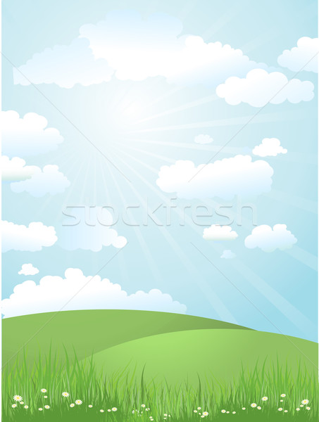 Stock photo: landscape on a sunny day