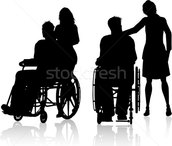Man in wheelchair with woman Stock photo © kjpargeter