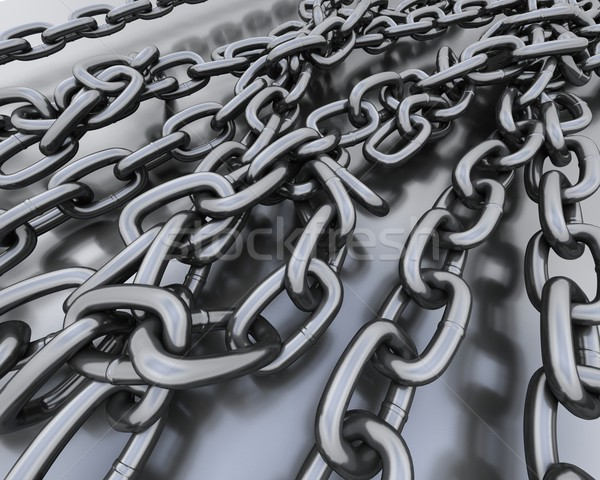 Background of steel chains Stock photo © kjpargeter