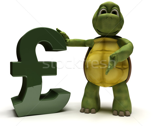 Tortoise with pound sign Stock photo © kjpargeter