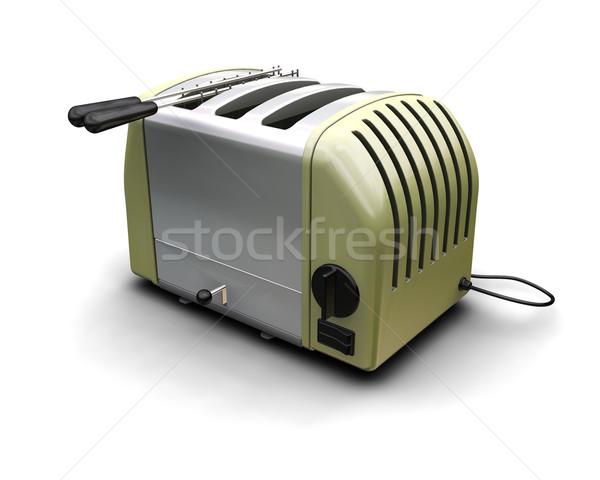 ретро тостер 3d визуализации современных иллюстрация оказывать Сток-фото © kjpargeter