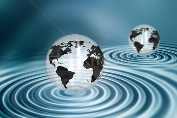 Acqua ripple business mondo mappa Foto d'archivio © kjpargeter
