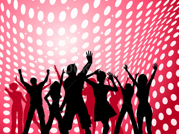 Сток-фото: вечеринка · люди · танцы · точка · девушки