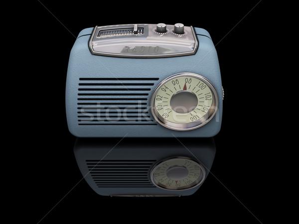 Stock fotó: Retro · rádió · fekete · antik · elektronikus · tárgy