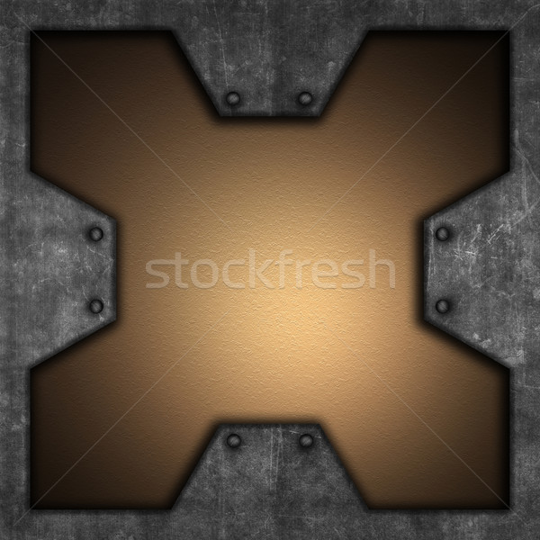 Grunge meta and leatherl background Stock photo © kjpargeter