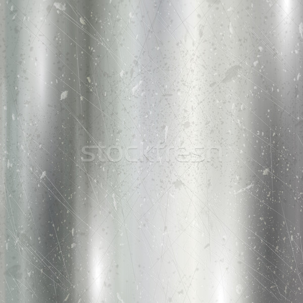 Scratched brushed metal background  Stock photo © kjpargeter